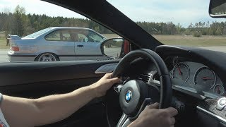 [4k] HC Performance BMW M6 Coupe Competition Package vs BMW M3 3,2 E36 Turbo 670 HP