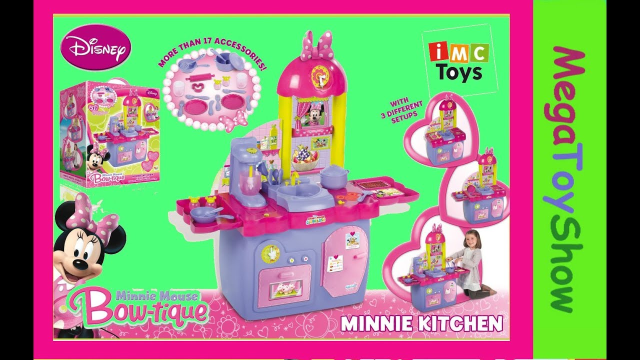Minnie Mouse kitchen playset / toys for Girl Baby - YouTube