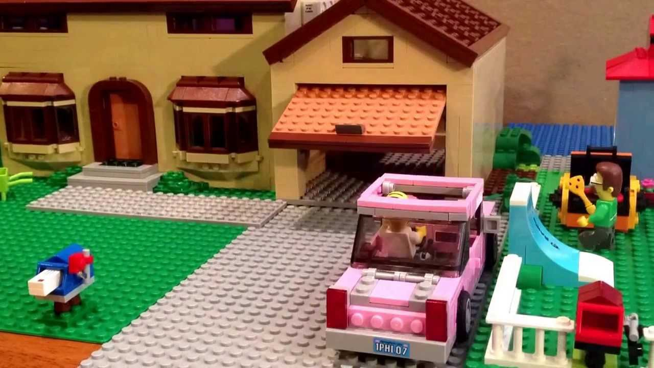 Make Your Own Car >> Lego Simpsons intro scene - YouTube