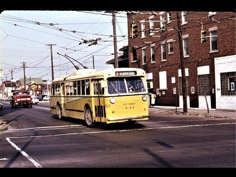 Dayton, Ohio Trolleybus Scenes -1960s & 1970s