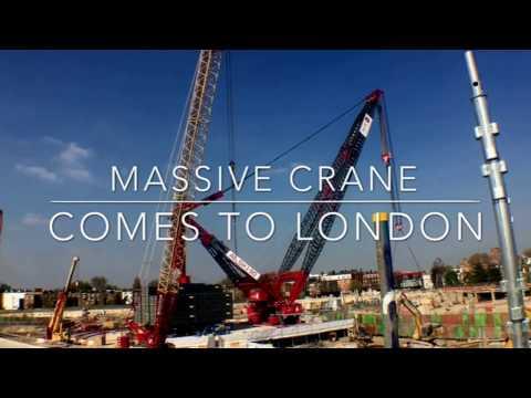 Massive crane comes to London