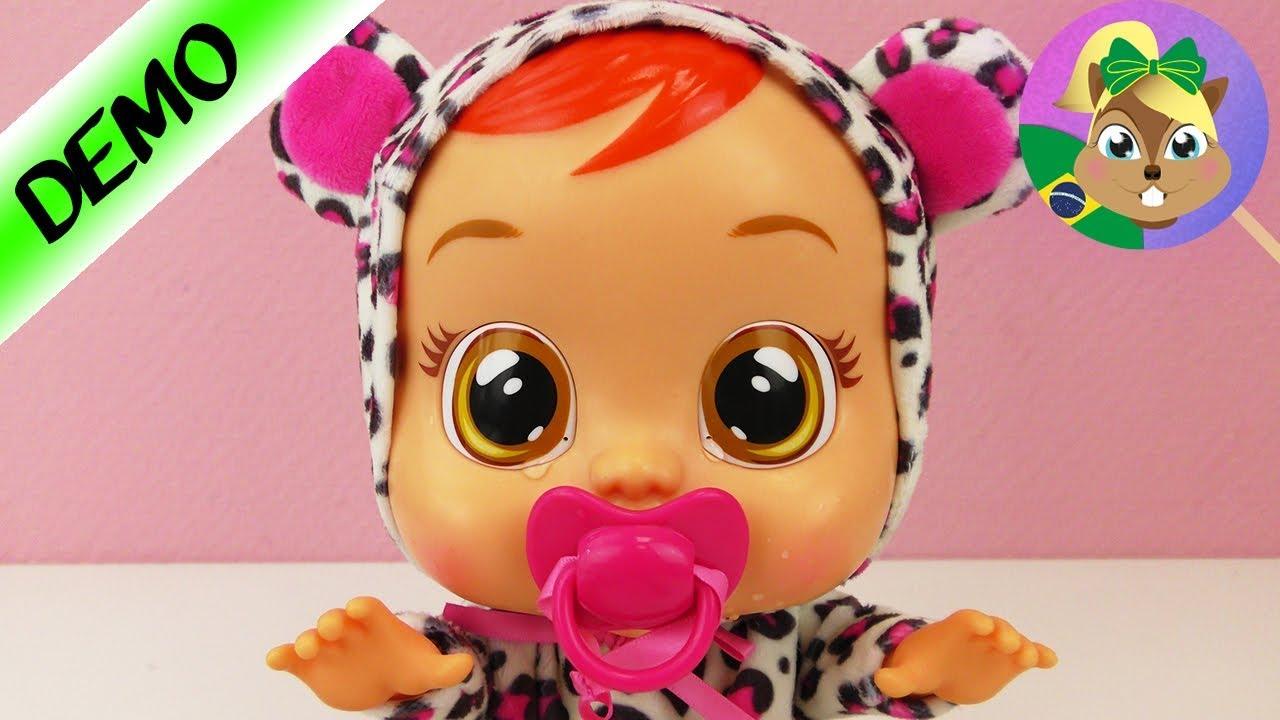 Boneca Cry Baby Portugues Pequena Lea Chorando Chupeta E A Solucao Youtube