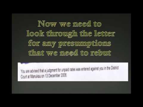 BILL TURNER   REBUTTING PRESUMPTIONS in LAW