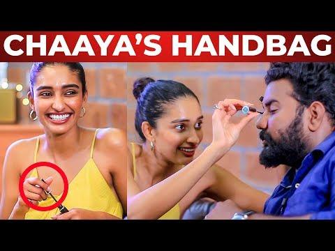 Chaaya's Handbag Secrets Revealed   Dayana Erappa   What's Inside the HANDBAG