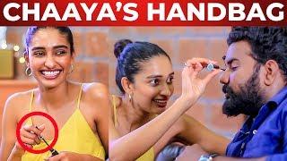 Chaaya's Handbag Secrets Reveled | Dayana Erappa | What's Inside the HANDBAG