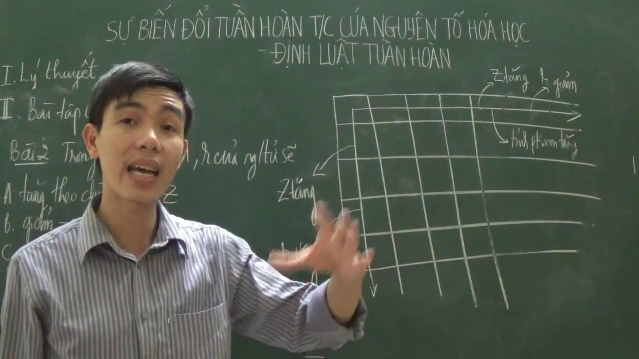[Hóa 10] – Sự biến đổi tuần hoàn tính chất các nguyên tố, Định luật tuần hoàn (Phần bài tập)