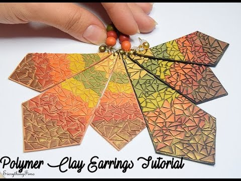 Polymer Clay Autumn Earrings Tutorial-Pinterest inspired