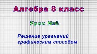 Алгебра 8 класс (Урок№6 - Решение уравнений графическим способом.)