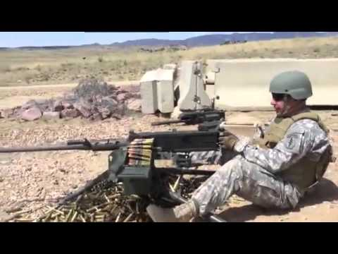 M2 Browning 50.Cal Machine Gun - Shooting