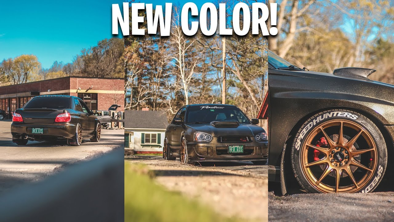 MY NEW CAR COLOR! - SHADOW BLACK PLASTI DIP WITH GOLD FLAKES & PURE GOLD  ALLOY WHEELS!