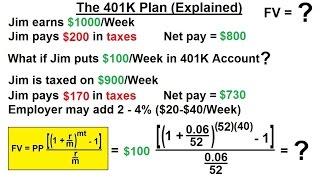 Business Math - Finance Math (14 of 30) The 401K Plan (Explained)