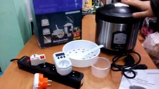 Мини мультиварка. Рисоварка. Электрокастрюля.(Видеообзор маленькой дешевой мультиварки на 1 программу. Рисоварка с функцией подержания тепла. Параметры...., 2015-11-29T12:30:53.000Z)