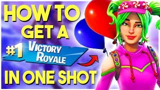 HOW TO GET A FORTNITE WIN (EASY)) // Fortnite: One Shot