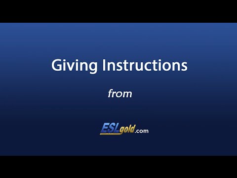 Giving Instructions - ESL Gold