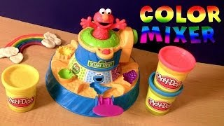 Play Doh Elmo Color Mixer From Sesame Street With Cookie Monster - Play Dough Mezclador De Colores