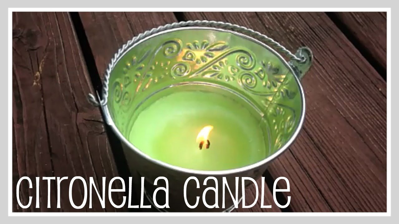Craft- Mosquito Repelling Candle - YouTube