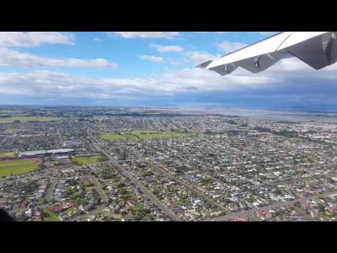 Landing at Invercargill Airport - Air New Zealand ATR