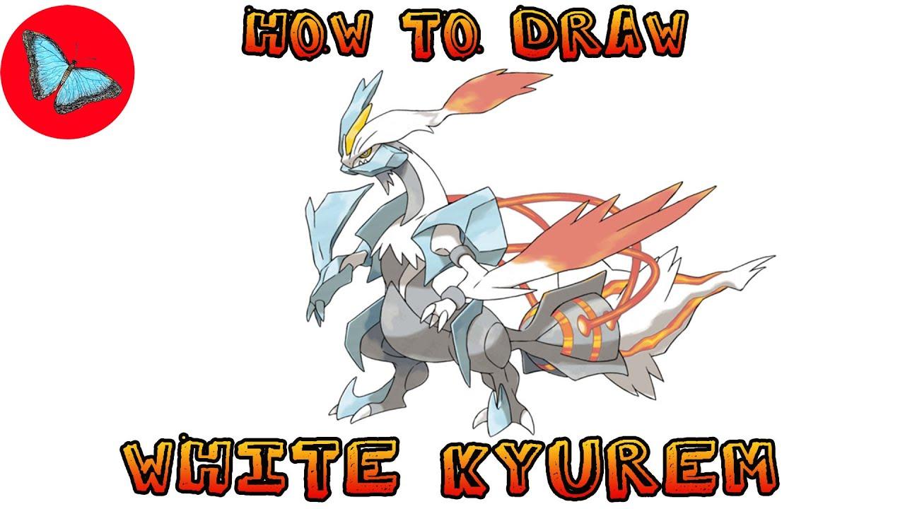 how to draw pokemon  white kyurem  drawing animals  youtube