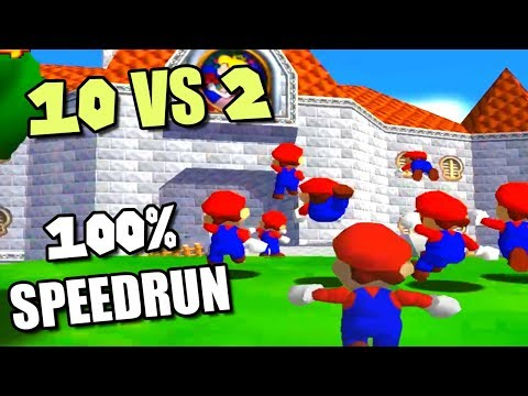 10 YOUTUBERS vs 2 SPEEDRUNNERS [SM64 120 Stars] ft. Cheese05, SimpleFlips, SMG4, Bandy and more!