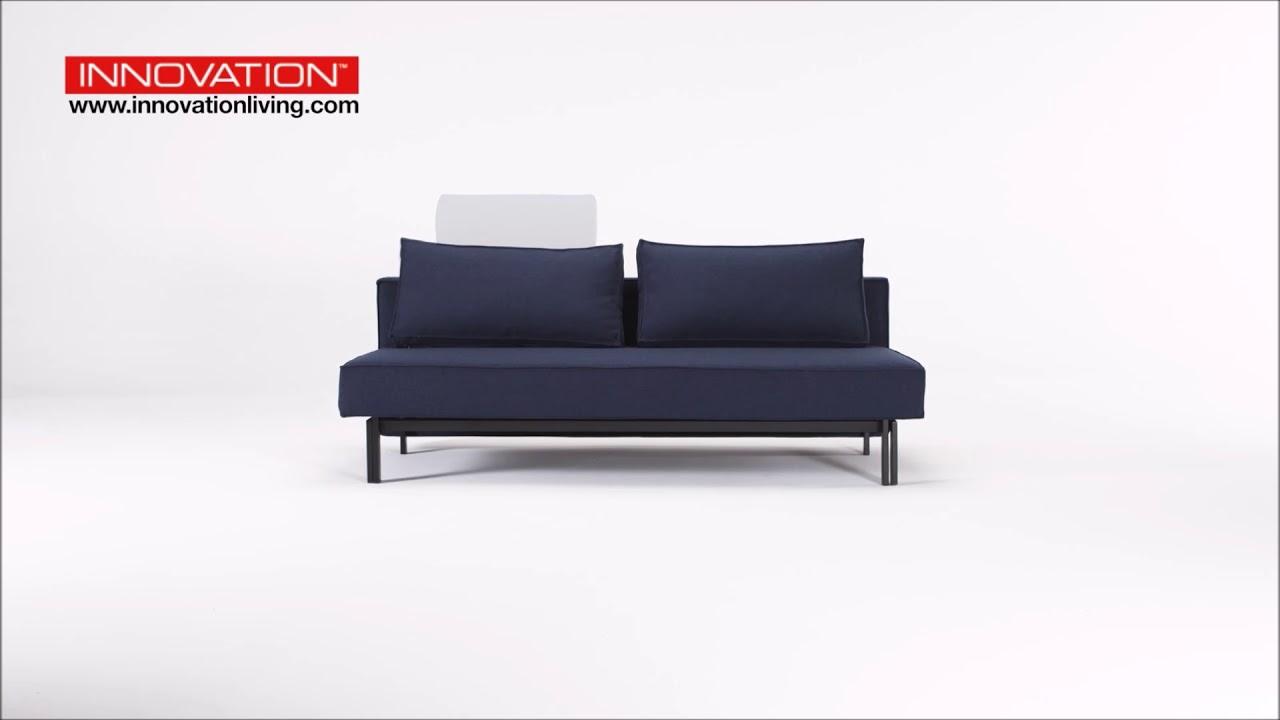 Canape Design Convertible En Lit 2 Places Kaki Gris Ou Bleu Sly Par Innovation Living