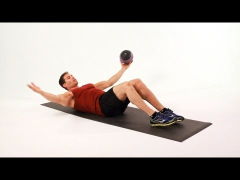 One-Arm Sit-Ups with Medicine Ball   Ab Workout