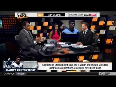 ESPN First Take   Stephen A  Smith Reacts to Ezekiel Elliott's Violence!