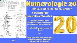 Ganzheitliche Numerologie - die Zahl 20