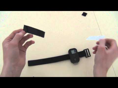 self gemaakte band voor gopro remote - homemade Velcro strap for wifi remote
