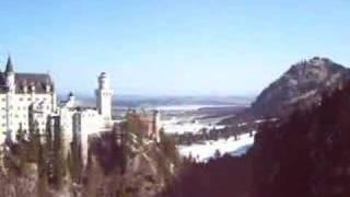 Neuschwanstein Castle from Waterfall Bridge