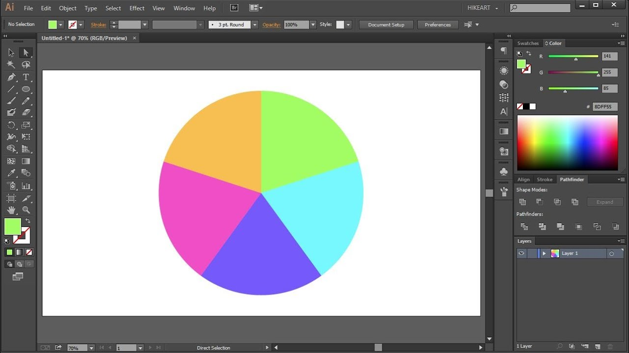 How to divide a circle into equal parts in adobe illustrator its youtube uninterrupted ccuart Choice Image