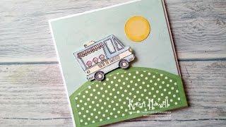 Stampin'Up! Tasty Truck Slider Card