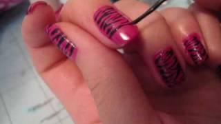 One of Sylvia Jade's most viewed videos: Nail Tutorial: Hot Pink Zebra Nail Design