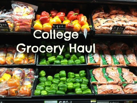 My Healthy CHEAP College Apartment Staple Foods | GROCERY HALL
