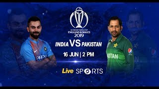 India vs Pakistan #INDvPAK - Cricket Live - DD Sports - ICC Cricket World Cup 2019