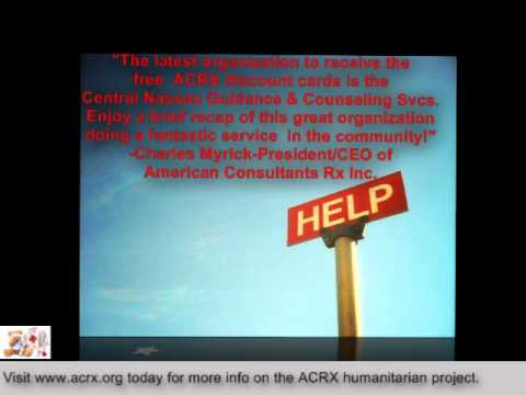 Health Help Donated To Central Nassau Guidance Counseling Services By Charles Myrick Of Acrx