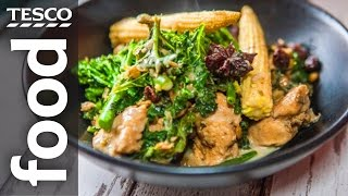 Chicken & Kale Curry Recipe  #TescoHelpSquad with SORTEDfood