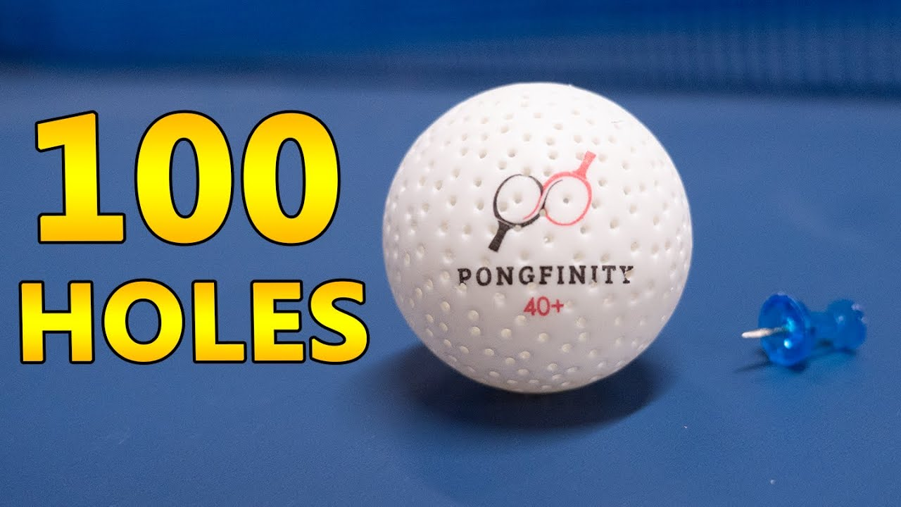 Pongfinity Ball With 100 Holes
