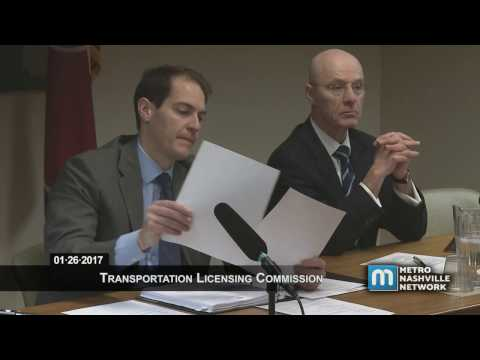 01/26/17 Transportation Licensing Commission Meeting