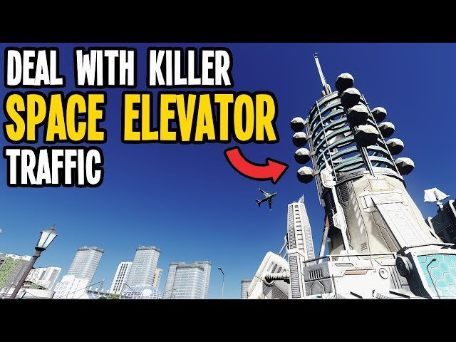 How to Build Perfect Transit for Mad Space Elevator Traffic in Cities Skylines