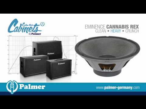 Palmer Custom Made Cabinets with Eminence Cannabis Rex speaker-chassis