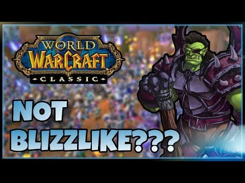 Blizzard says Private Servers are WRONG But how wrong are they?  New Classic WoW