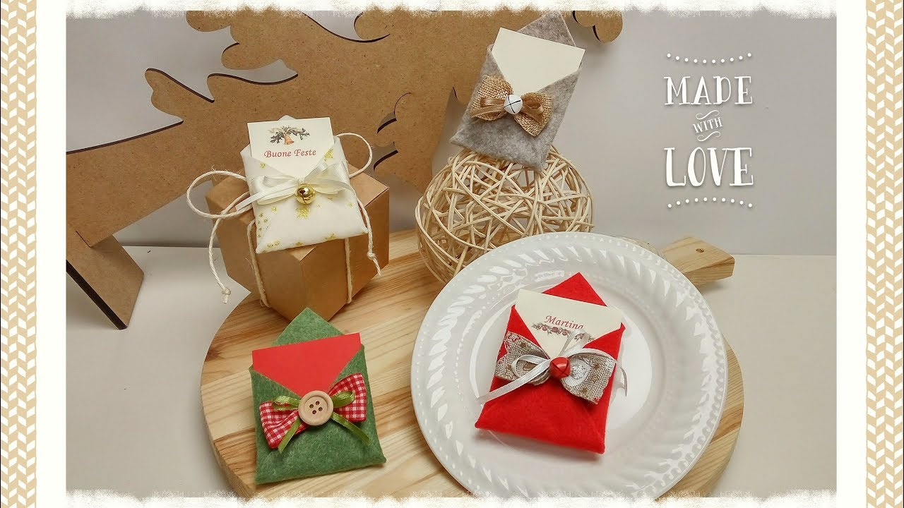 Segnaposto X Natale.Letteri Segnaposto Chiudi Pacco Natalizio Semplice Veloce