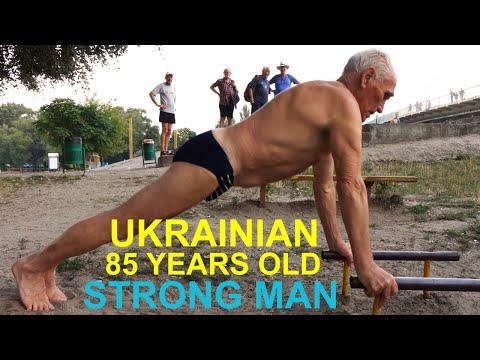 UKRAINIAN 85 Year Old Strong Man ( Physical Longevity )