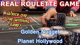 1 WIN, 1 LOSS - 2 Live Roulette Games #11 - Golden Nugget & Planet Hollywood, Las Vegas, NV