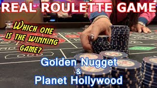 2 Live Roulette Games #11 - 1 WIN, 1 LOSS - Golden Nugget & Planet Hollywood, Las Vegas, NV