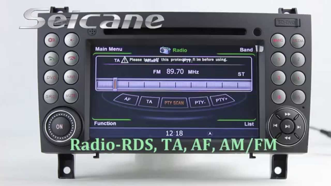 2000 2011 mercedes benz slk r171 radio stereo removal for Mercedes benz audio upgrades