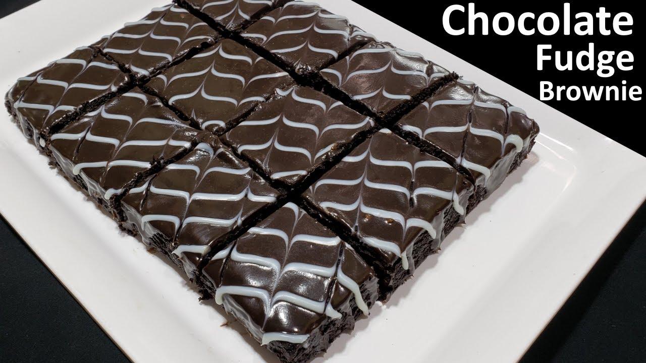 बिना अंडा बिना ओवन चॉकलेट फज ब्राउनी   Eggless chocolate brownie   Easy Chocolate Brownie Recipe