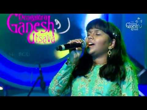 """Anjana Padmanabhan singing """"Re Kabira Maan Ja"""" @ 54th Bengaluru Ganesh Utsava"""