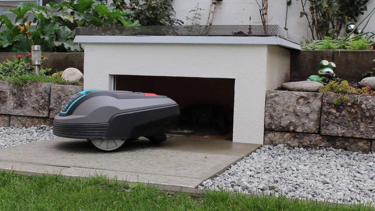 Gardena R40li Garage Youtube