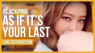 Baixar BLACKPINK - AS IF IT'S YOUR LAST (마지막처럼) Line Distribution (Color Coded)